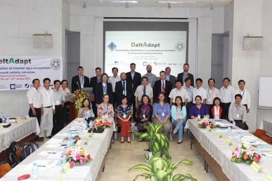 Group picture of all project partners at Kick-Off meeting at Can Tho University, October 2014